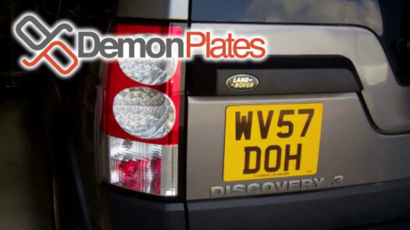 Landrover discovery number plate